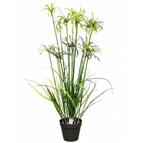 Planta papirus artificial con maceta 120