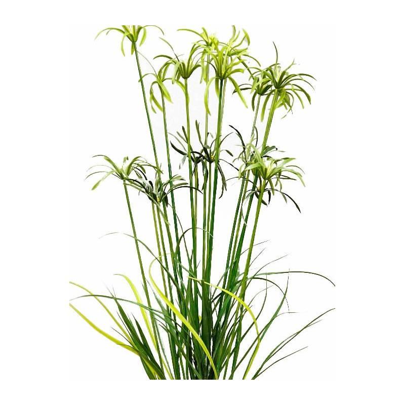planta papiro artificial con maceta 120 oasis decor. Black Bedroom Furniture Sets. Home Design Ideas