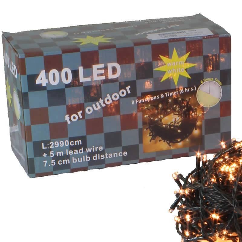 guirnalda navidad luces led calidas exterior