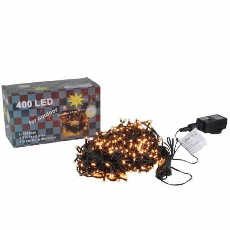 Guirnalda Navidad 400 luces led calidas exterior