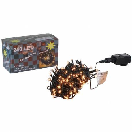 Guirnalda Navidad 240 luces led calidas exterior