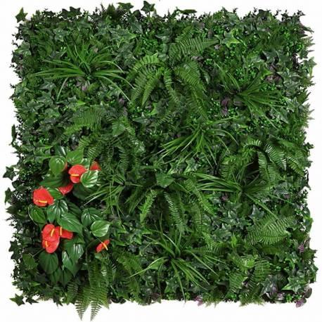 Placa plantes artificials jardí vertical anthurium