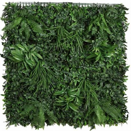 Placa plantas artificiales jardin vertical helechos