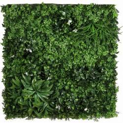 Placa plantas artificiales jardin vertical flor blanca