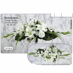 Ram horitzontal flors artificials cementeri gladiols i lilium
