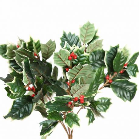 Mata acebo artificial variegata 7 ramas