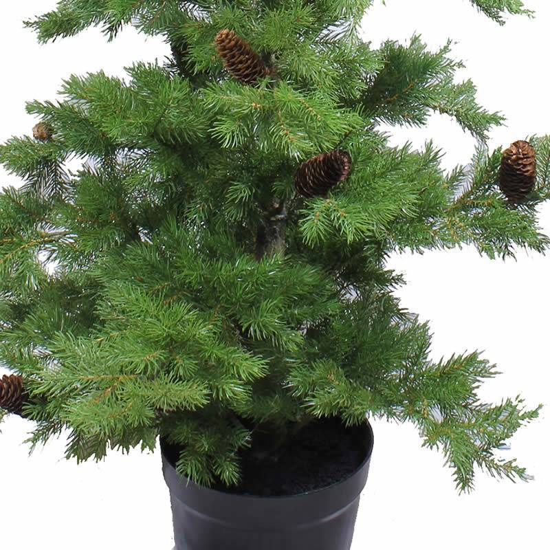 Pino artificial de plastico con pi as 160 oasis decor - Pinos de navidad artificiales ...