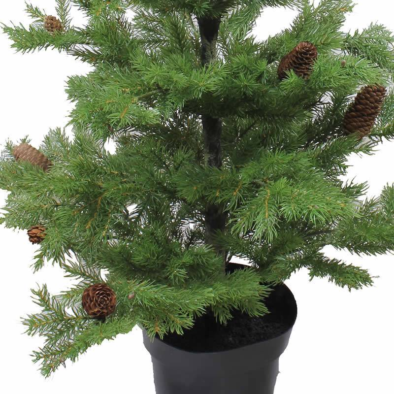 Pino artificial de plastico con pi as 100 oasis decor - Pinos de navidad artificiales ...