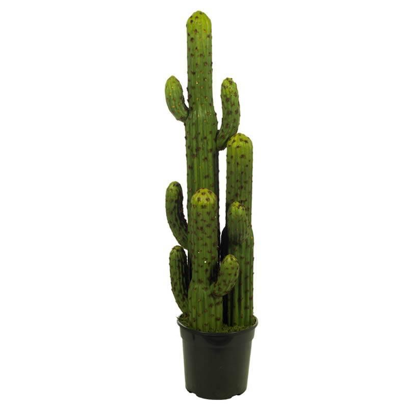 Cactus artificial desierto latex mediano 073 oasis decor for Faux cactus ikea