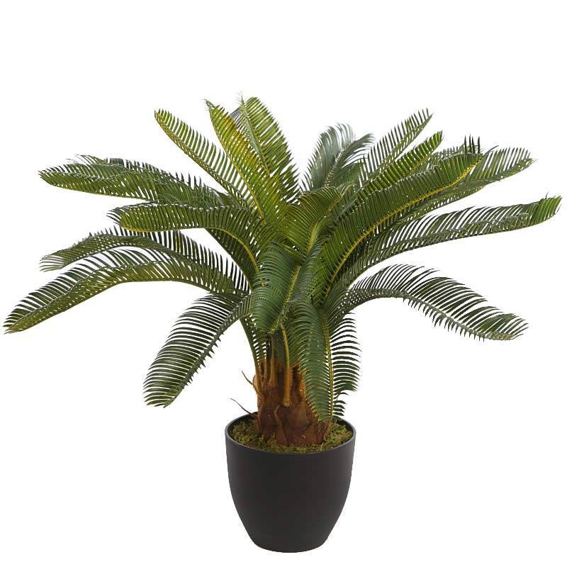 palmera artificial cyca con maceta oasis decor