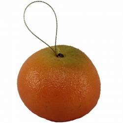 Fruta artificial mandarina con hilo