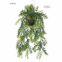 Planta artificial Hebe Blossom colgante de plastico con maceta