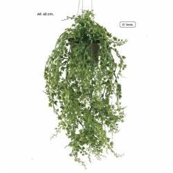 Planta artificial pequeña de plastico hiedra con maceta