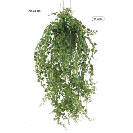 Planta artificial pequeña de plastico hiedra pea con maceta