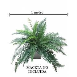 Planta helecho artificial grande sin maceta
