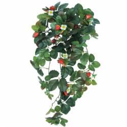 Planta artificial colgante fresas con frutos plastico