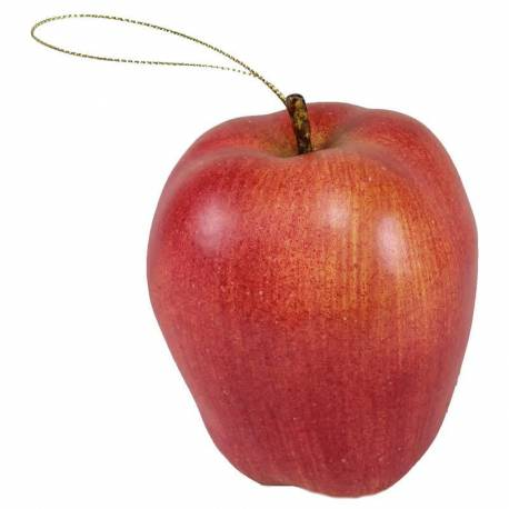 Fruita poma artificial plascti amb fil
