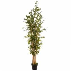 Arbol bambu artificial 6 cañas con maceta 190