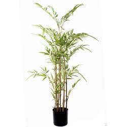 Bambu artificial pequeño con 7 cañas 090