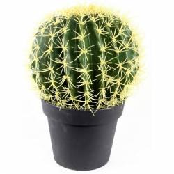 Cactus artificial bola con maceta 036