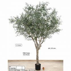 Arbre olivera artificial amb olives de plastic 130