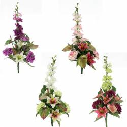 Ramo flores artificiales cementerio anthurium