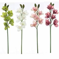 Flor cymbidium artificial de latex