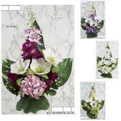 Ramo flores artificiales cementerio delphinium