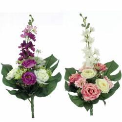 Ramo flores artificiales cementerio delfinium