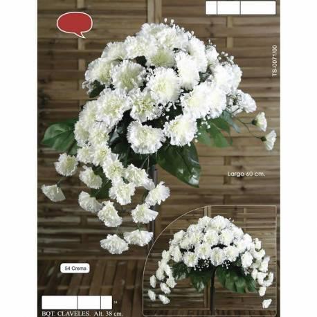 Ramo horizontal flores artificiales cementerio claveles