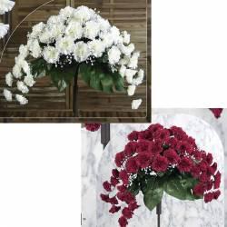 Ram horitzontal flors artificials clavells cementeri