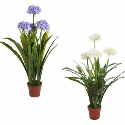 Planta artificial allium con maceta 080