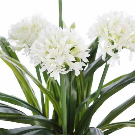 Planta artificial allium con maceta 080