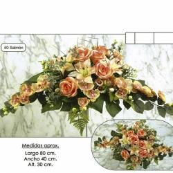 Ram horitzontal flors artificials cementeri orquidides eucaliptus