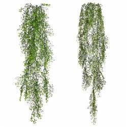 Planta colgante helecho artificial