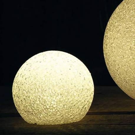 Bola decorativa Navidad hielo con luz a pilas