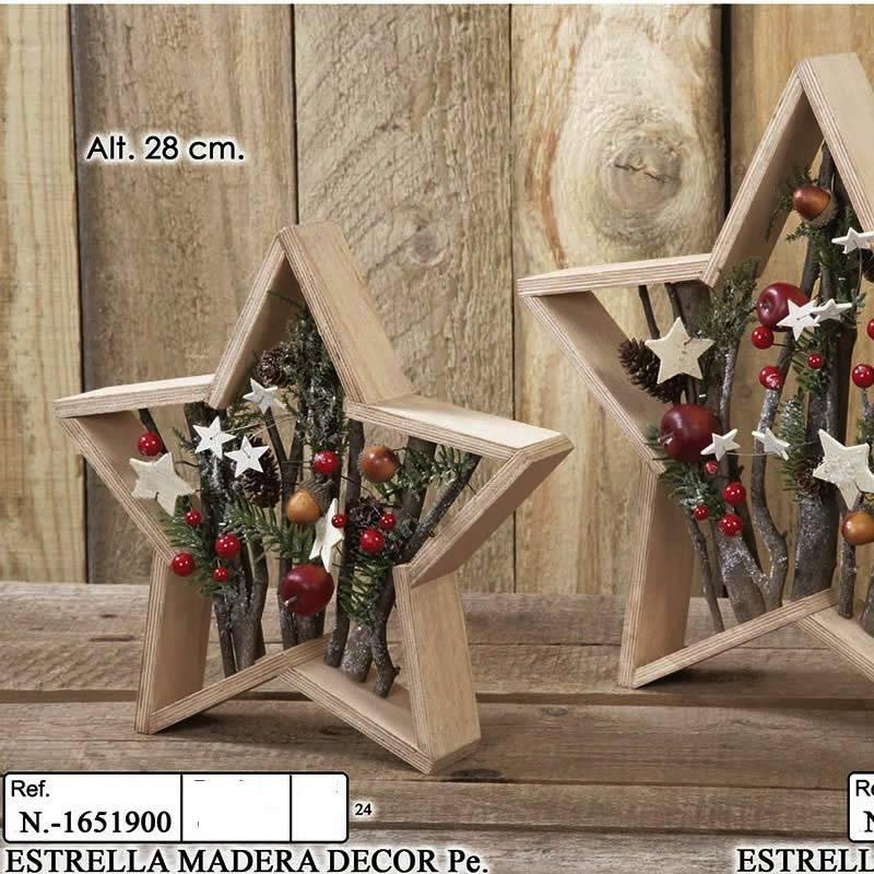 Estrella de madera para decoracion navidad oasis decor - Madera para decoracion ...