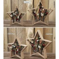 Estrella de madera para decoracion Navidad