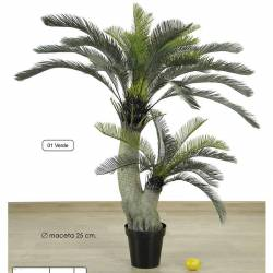 Planta cyca artificial dos troncos 150