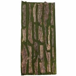 Placa musgo artificial y madera natural