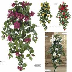 Planta artificial que penja hibiscus