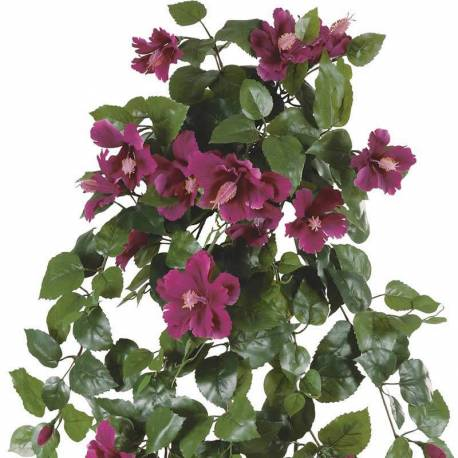 Planta artificial colgante hibiscus