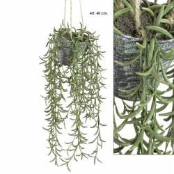 Planta artificial grass con maceta y cuerda