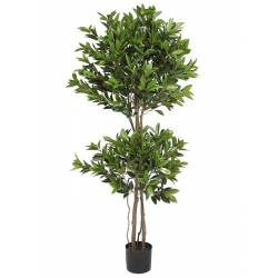 Arbol laurel artificial doble bola 165