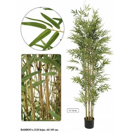 Bambu artificial cañas naturales lleno 185
