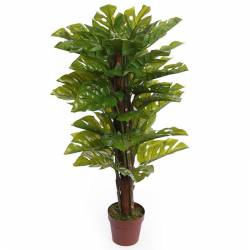Planta monstera artificial con tutor 100