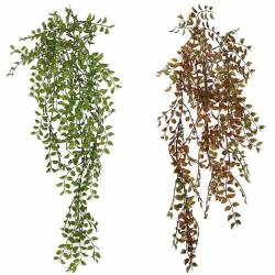 Planta colgante hojas plastico