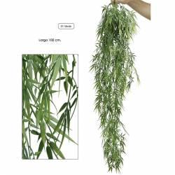 Planta artificial que penja bambu de plastic 100