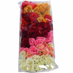 Caps roses artificials assortides