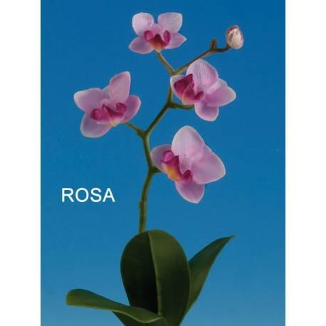 Orquidea phalaenopsis artificial con maceta pequeña